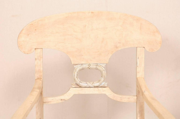 Pair of Swedish Biedermeier or Karl Johan Armchairs from the Late 1800s For Sale 4