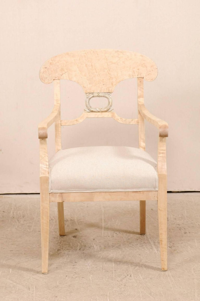 Pair of Swedish Biedermeier or Karl Johan Armchairs from the Late 1800s In Good Condition For Sale In Atlanta, GA