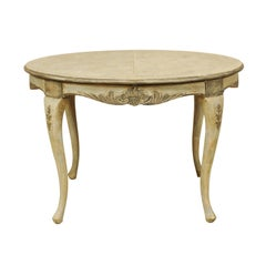 Swedish Rococo Style Round Painted and Carved Wood Centre Table, circa 1910-1920