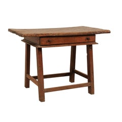 18th Century Brazilian Peroba Tropical Wood Side Table with Single Drawer