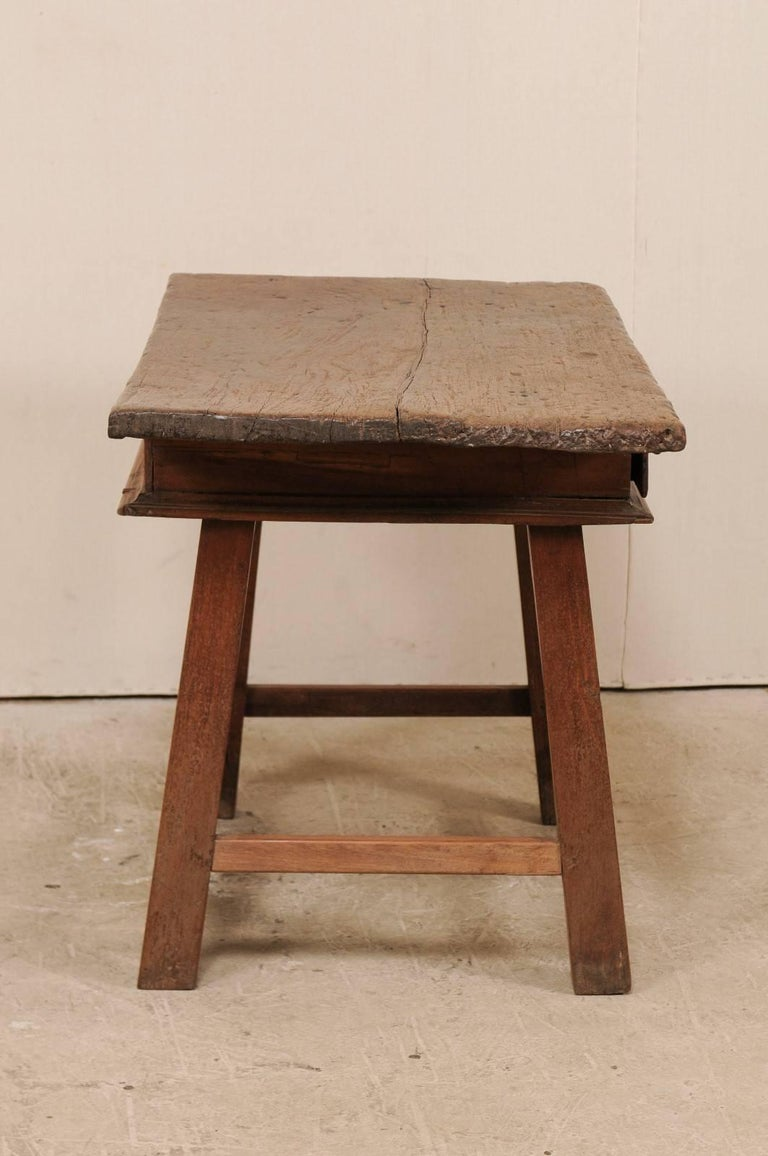 18th Century Brazilian Peroba Tropical Wood Side Table with Single Drawer For Sale 2