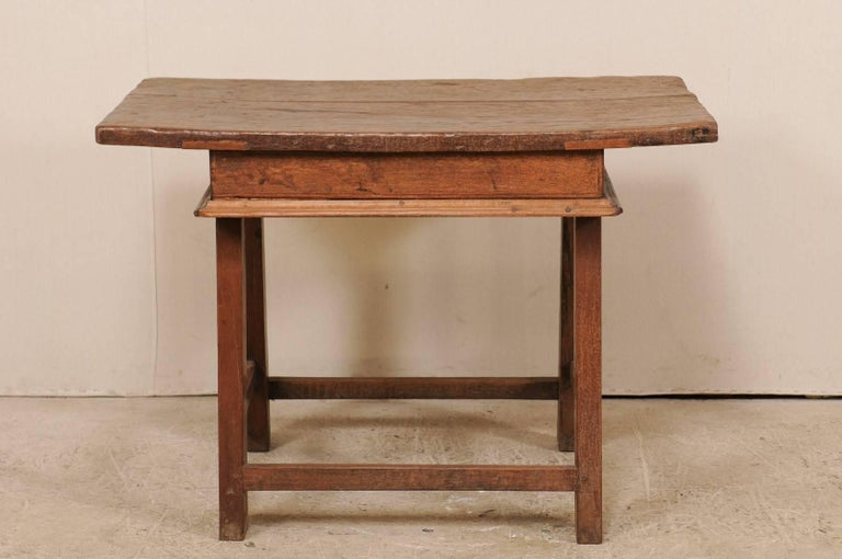 18th Century Brazilian Peroba Tropical Wood Side Table with Single Drawer For Sale 3