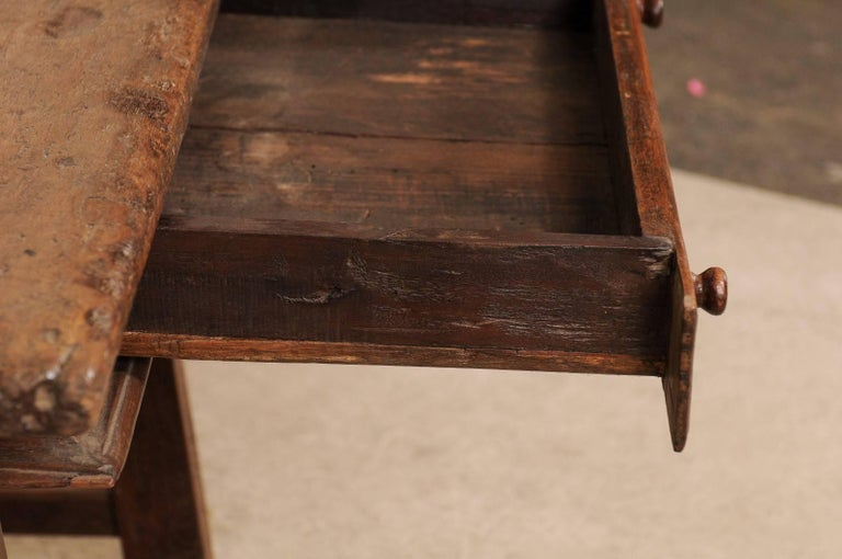 18th Century Brazilian Peroba Tropical Wood Side Table with Single Drawer For Sale 1