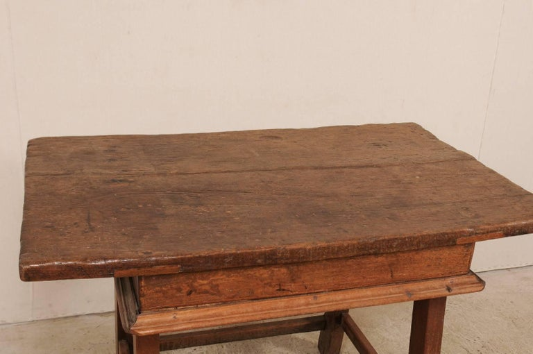 18th Century Brazilian Peroba Tropical Wood Side Table with Single Drawer For Sale 4