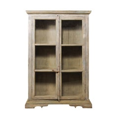 Tall Display Cabinet Made of 19th Century French Windows and Reclaimed Wood