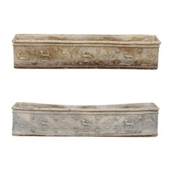 Pair of English Early 19th Century Elegantly Adorned Flower Boxes
