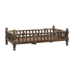 British Colonial Wooden Pet Bed / Bassinet from the Mid-20th Century
