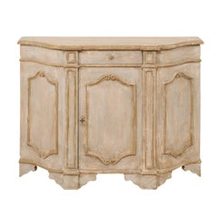 Italian Midcentury Painted Wood Sideboard with Volute Accents