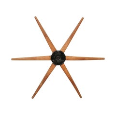 Antique French Wood and Iron Industrial Wheel from the Early 20th Century