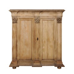 "18th Century European Period Baroque ""Kas"" Cabinet with Corinthian Pilasters"