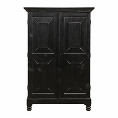 British Colonial Cabinet from the Mid-20th Century in Rich Black Color