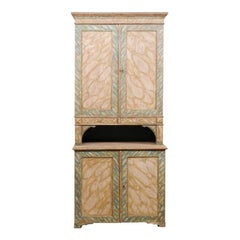 Swedish Painted Wood Two-Piece Cupboard, circa 1830-1850