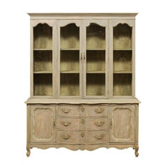French Style Mid-20th Century Wood and Glass Display and Storage Cabinet