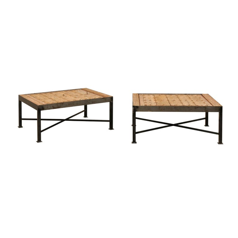 Custom Coffee Table Bases: Kinetic Three Tops Swivel Horn Coffee Table For Sale At