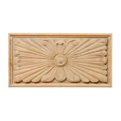Spanish Carved Wood Wall Plaque from the Early 20th Century in Natural Finish