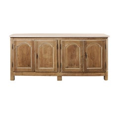 18th Century French Carved Wood Buffet Cabinet with Marble Top