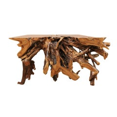 Tropical Teak Root Hardwood Console Table
