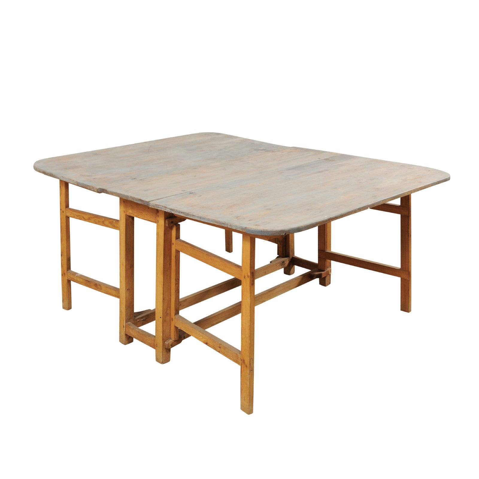 Early 19th Century Swedish Painted Wood Table with Gate Legs