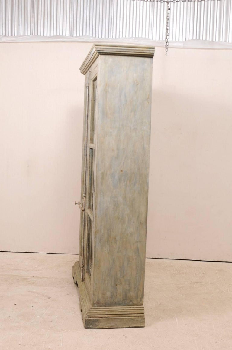 Tall Display Cabinet Made of 19th Century French Windows and Reclaimed Wood For Sale 4