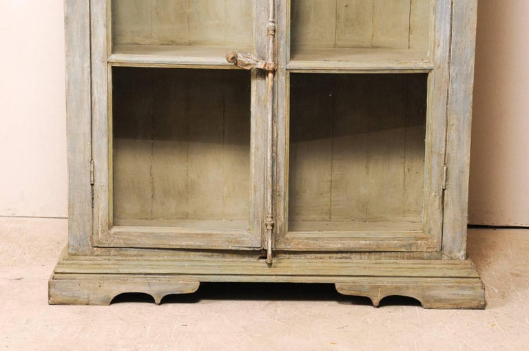 Tall Display Cabinet Made of 19th Century French Windows and Reclaimed Wood For Sale 2