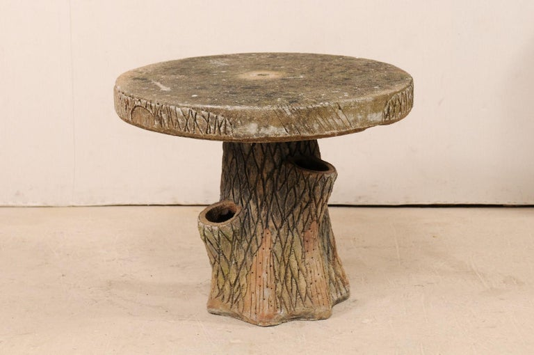 French Faux Bois Tree Stump Outdoor Garden, Porch or Patio Side ...