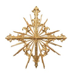 Italian 19th Century Large Size Sunburst Wall Decoration