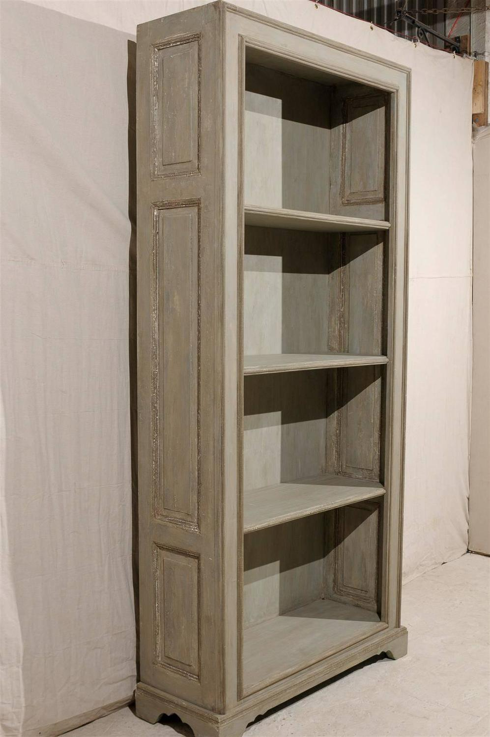 French painted wood etagere made of 19th century doors for for Wooden french doors for sale