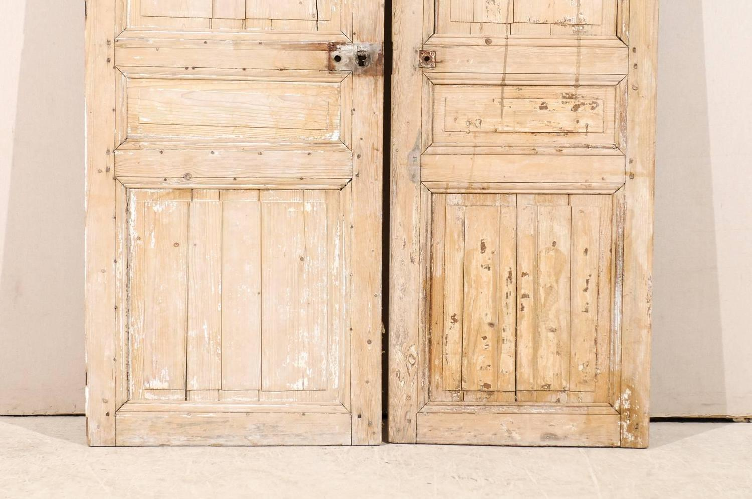 Pair of french 19th century wooden doors for sale at 1stdibs for Wooden french doors for sale