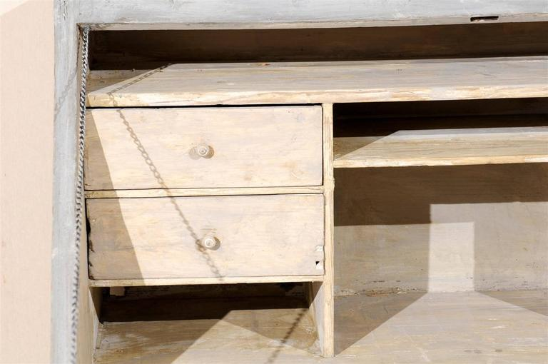 Swedish 19th Century Gustavian Style Painted Wood Slant-Front Desk For Sale 4
