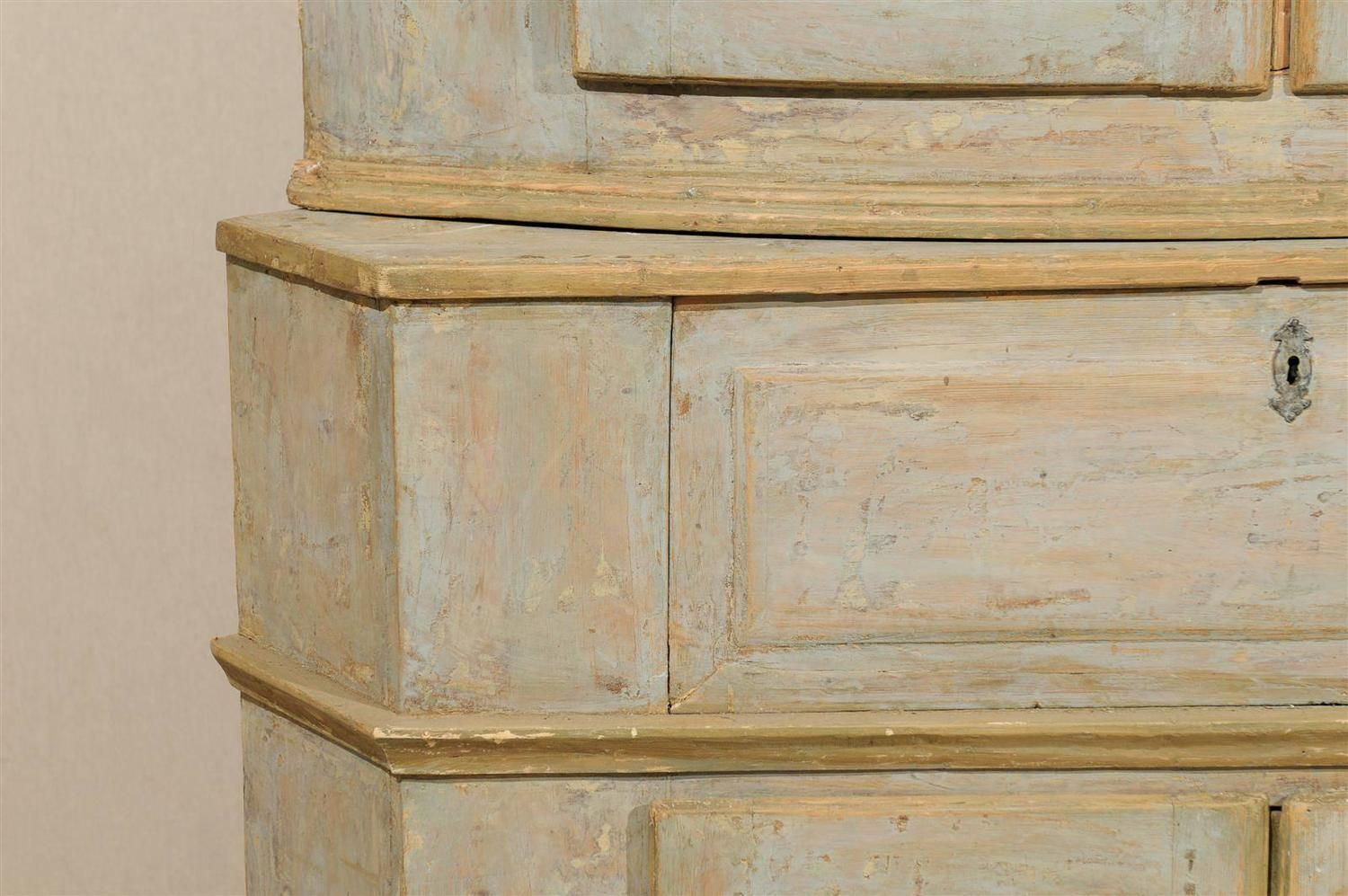 Early 19th Century Karl Johan Painted Wood Corner Cabinet At 1stdibs. Full resolution  pic, nominally Width 1500 Height 997 pixels, pic with #644B2A.