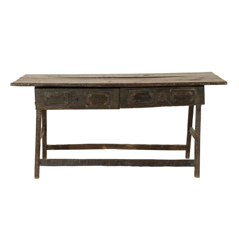 Late 17th-Early 18th Century Wooden Brazilian Console Table