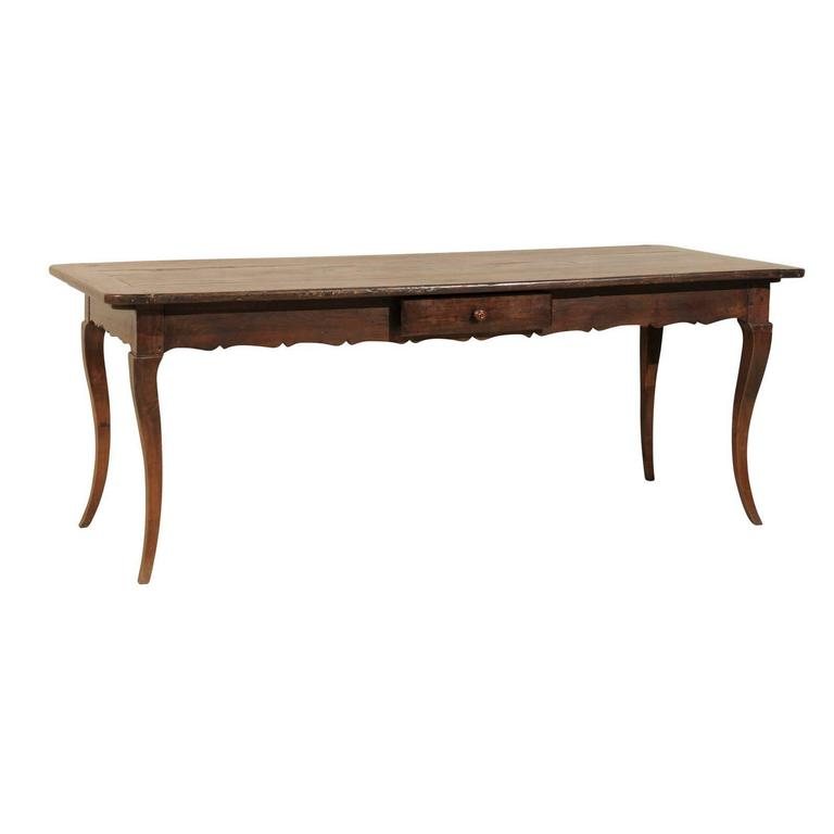 French 19th Century Fruitwood Table/Desk