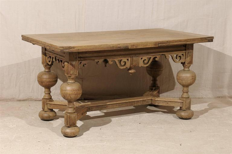 An exquisite Swedish early 19th century Baroque style wooden table / desk.