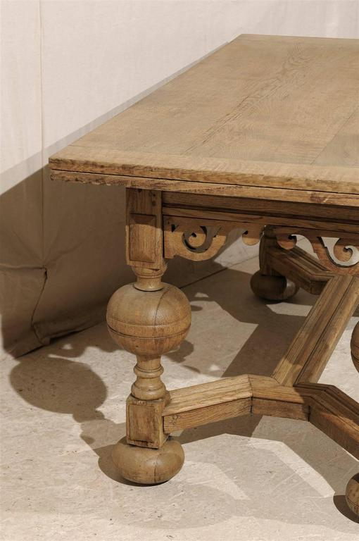 A Swedish Baroque Style Wooden Table With Carved Apron, Early 19th Century For Sale 2