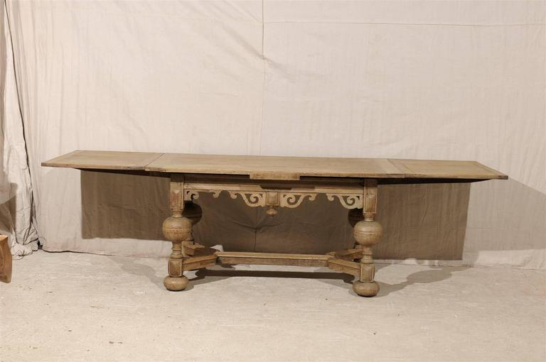 A Swedish Baroque Style Wooden Table With Carved Apron, Early 19th Century For Sale 4