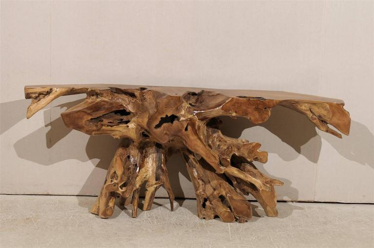 Brand new Teak Root Wooden Console Table For Sale at 1stdibs WQ63