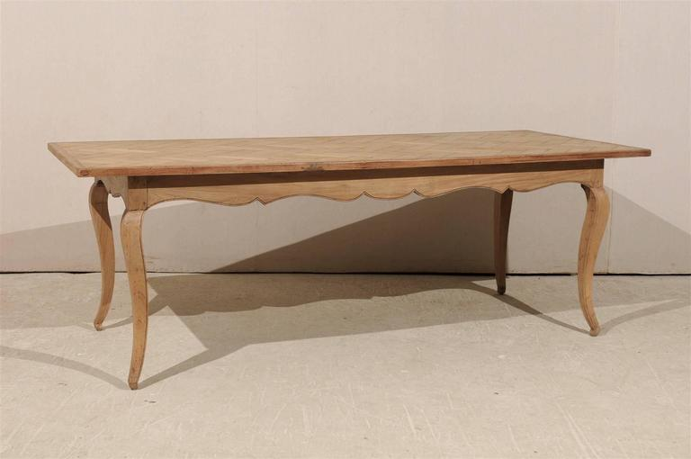 A French Removable Parquet Top Dining Table From The Early 20th Century This