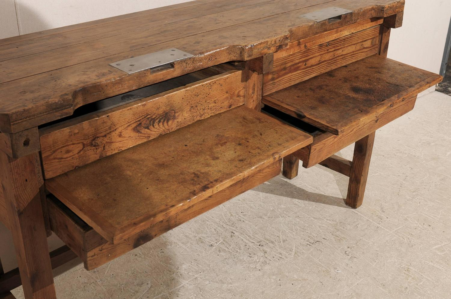 19th century jeweler 39 s table or work bench for sale at 1stdibs. Black Bedroom Furniture Sets. Home Design Ideas