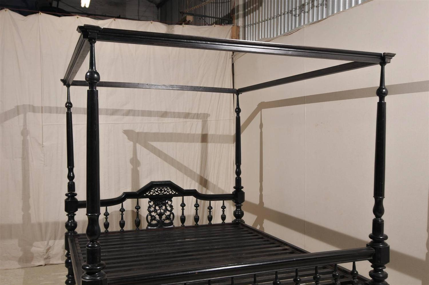 antique black four post canopy style bed at 1stdibs