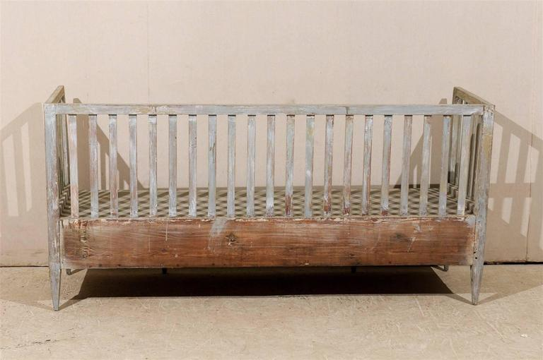 Swedish Period Gustavian Painted Wood Bench from the Late 18th Century For Sale 2