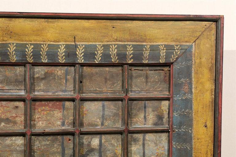 19th Century Carved Wood Southern Indian Decorative Ceiling Panel For Sale 2