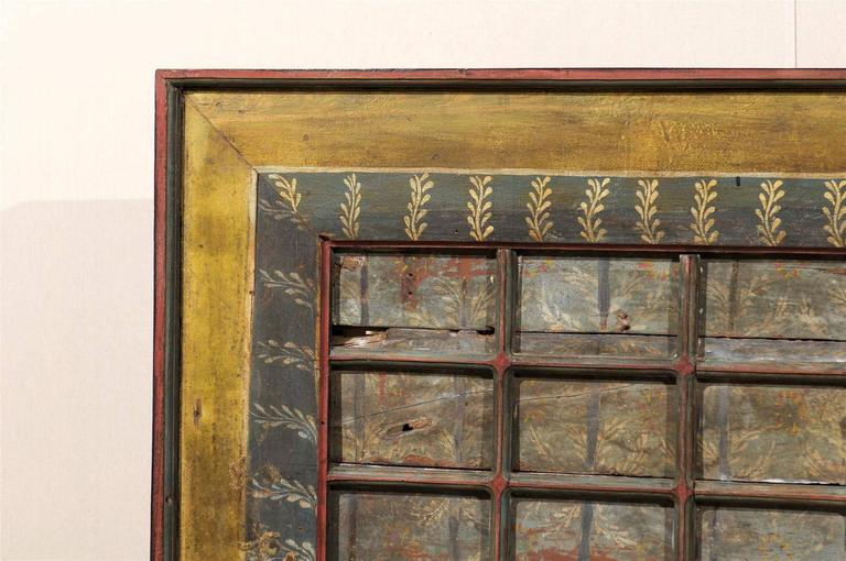 19th Century Carved Wood Southern Indian Decorative Ceiling Panel For Sale 3