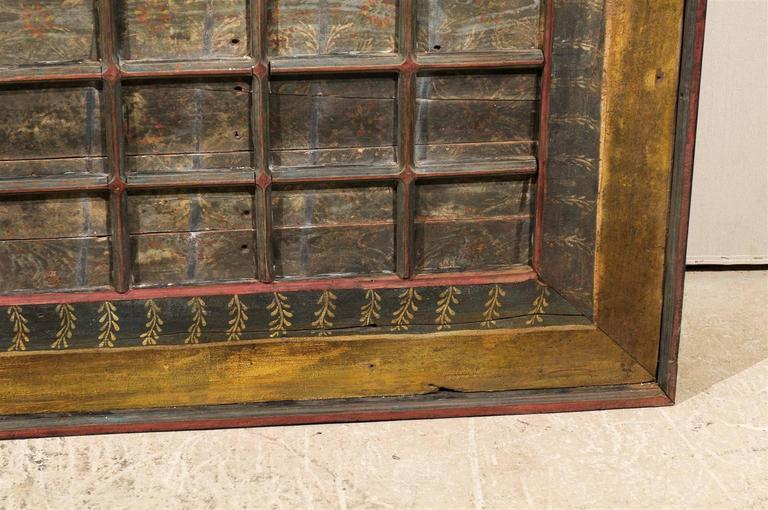 19th Century Carved Wood Southern Indian Decorative Ceiling Panel For Sale 4