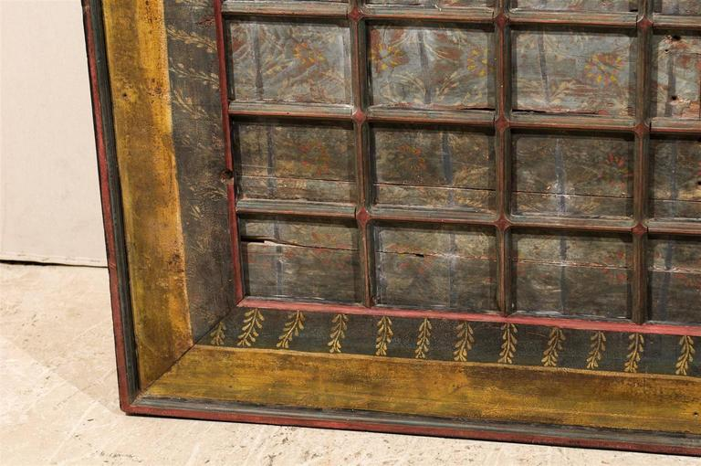 19th Century Carved Wood Southern Indian Decorative Ceiling Panel For Sale 5