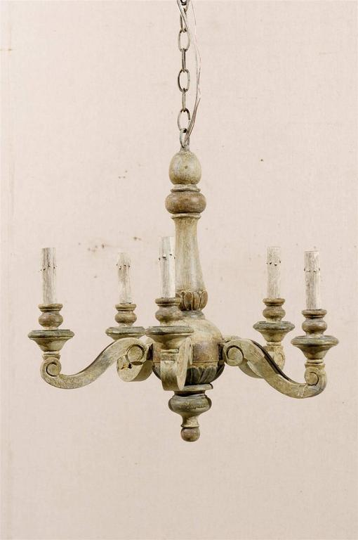 A French Five Light Chandelier From The Mid 20th Century This Vintage