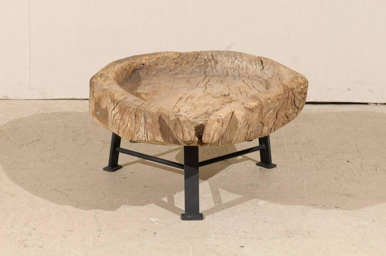 Guatemalan Rustic Natural Interestingly Shaped Coffee Table, Late 19th Century In Good Condition For Sale In Atlanta, GA