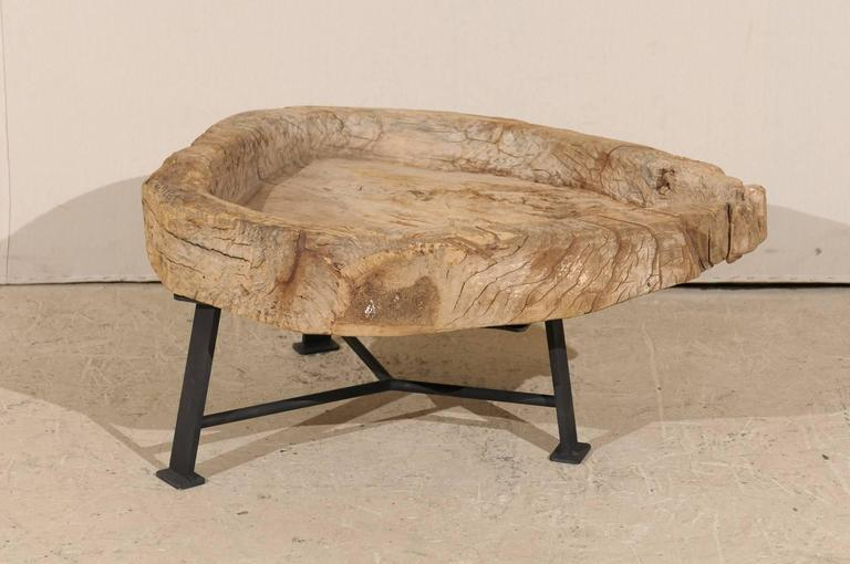 Metal Guatemalan Rustic Natural Interestingly Shaped Coffee Table, Late 19th Century For Sale