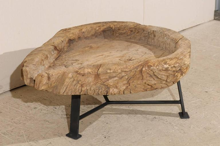 Guatemalan Rustic Natural Interestingly Shaped Coffee Table, Late 19th Century For Sale 2