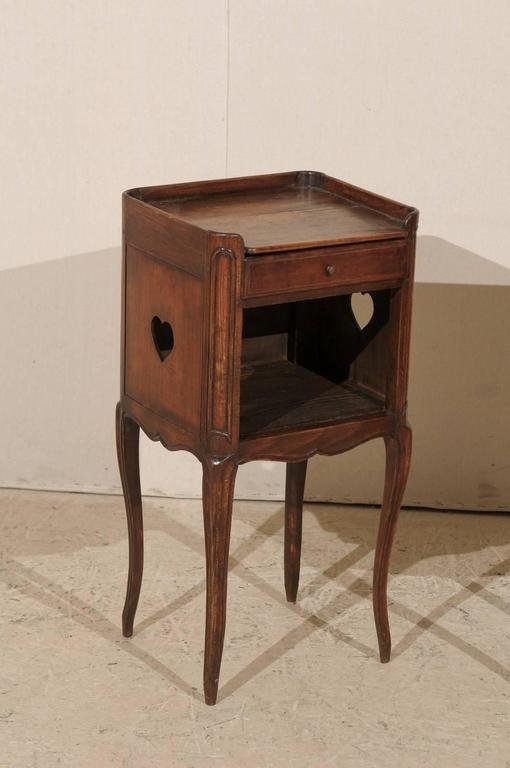 Pair of French Stained Wood Side Tables or Nightstands in Warm Cabernet Mahogany For Sale 5