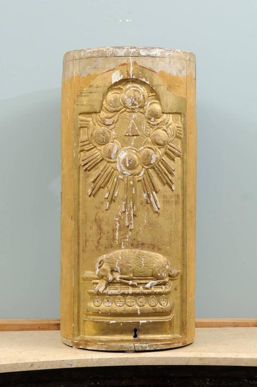 Italian 19th Century Giltwood Altar Piece with Cloudy Sun-Ray Motifs For Sale 1